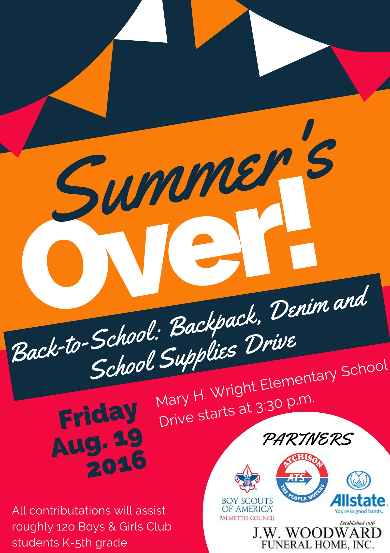 Back-to-School: Backpack, Denim and School Supplies Drive