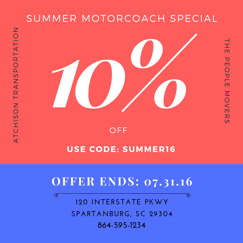 SUMMER MOTORCOACH SPECIAL!!!