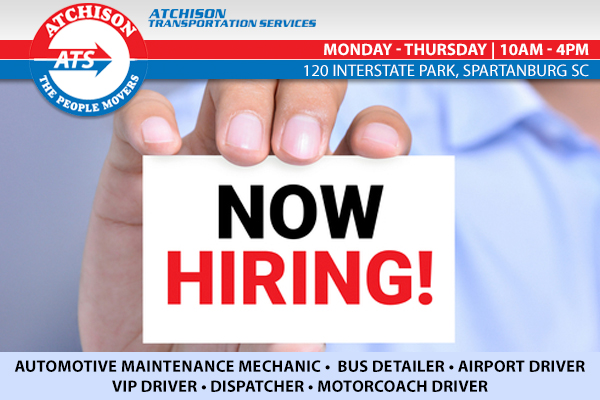 ATS is Growing Again | Now Hiring In Greenville and Spartanburg