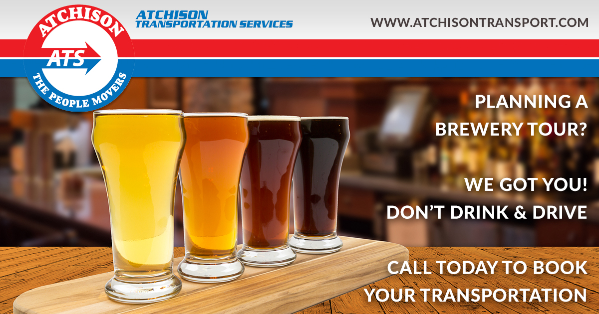 Let Atchison Provide Transportation For You and Your Friends On A Brewery Tour in North Carolina