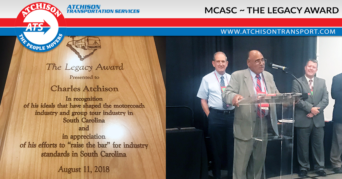 Charles Atchison – Proud Recipient of The Legacy Award